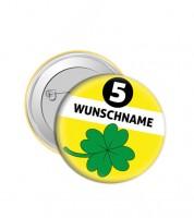"""Dein Button """"Kleeblatt"""" - Wunschtext"""