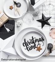"""Dekoration aus Papier """"Christmas time"""" - 17 x 10 cm"""