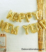 "Folienballon-Girlande ""Happy New Year"" - gold"