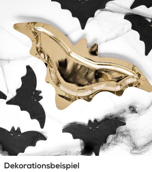 Fledermaus-Pappteller - gold - 6 Stück