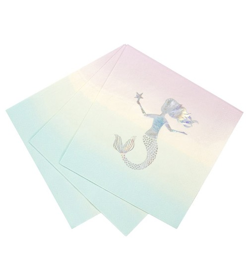 "Servietten ""Meerjungfrau Pastell"" - 16 Stück"