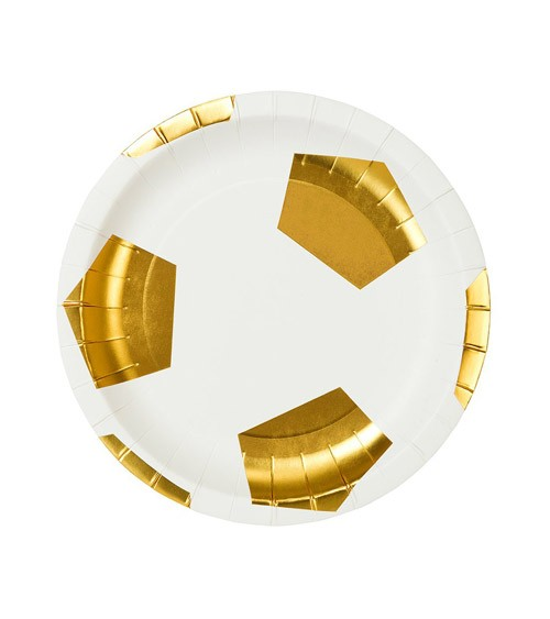"""Kleine Fußball-Pappteller """"Champion"""" - 12 Stück"""