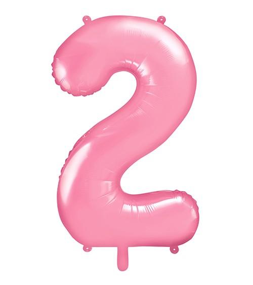"Supershape-Folienballon ""2"" - rosa - 86 cm"