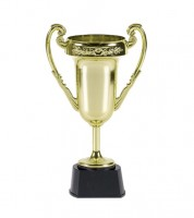 Großer Pokal aus Plastik - gold - 23 cm