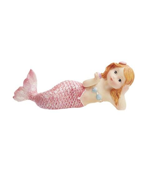 "Deko-Figur ""Meerjungfrau mit Glitter"" - liegend - 8 cm"