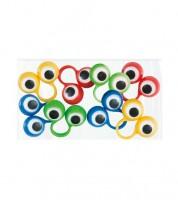 Plastik-Ringe mit sich bewegenden Augen - 8 Stück