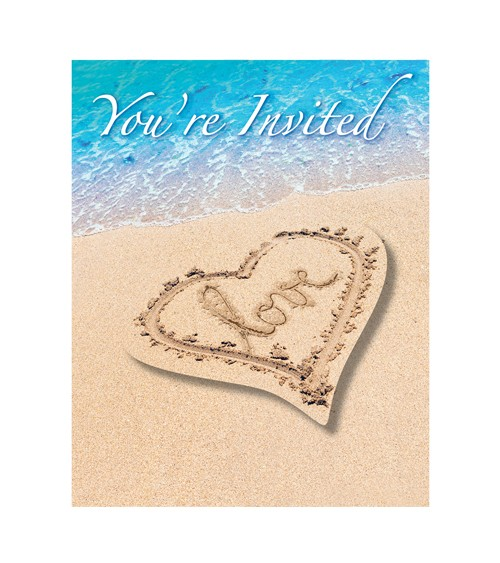 "Einladungskarten ""Beach Love"" - 8 Stück"