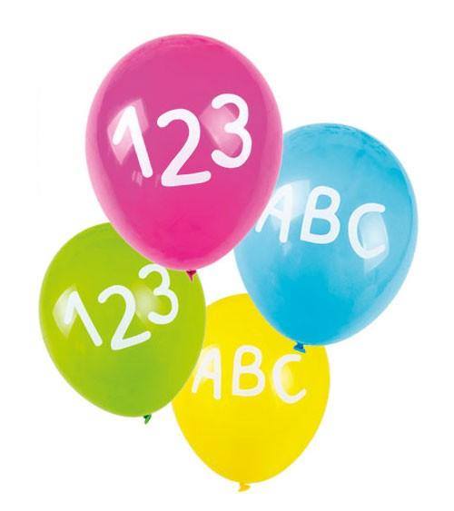 """Luftballon-Set """"Einschulung ABC"""" - 5 Stück"""