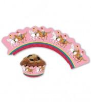 """Cupcake-Wrapper """"Bibi und Tina"""" - 12 Stück"""