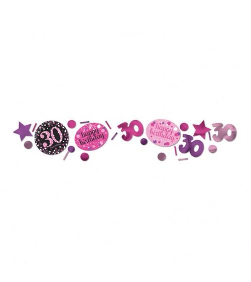"""Konfetti """"Sparkling Pink"""" - 30. Geburtstag - 34 g"""