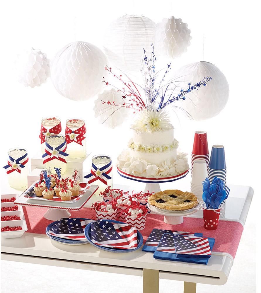 Amerikanische party ideen f r den 4 juli pink dots - Einsatz in 4 wanden ideen ...
