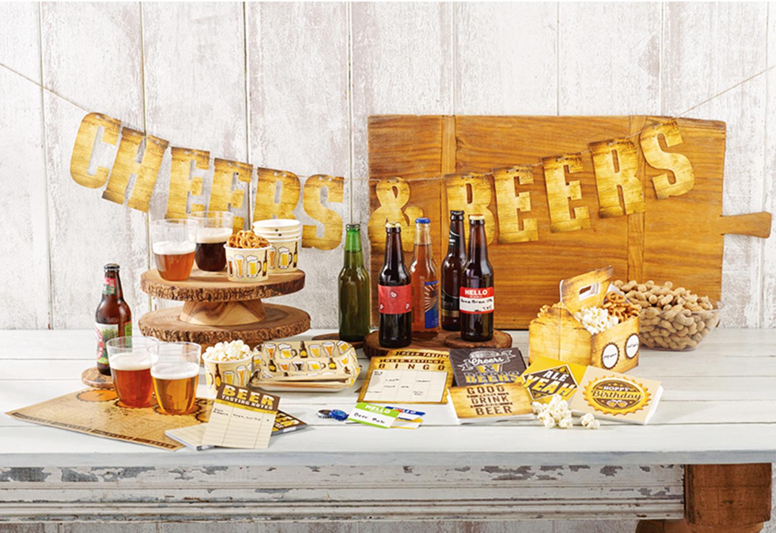 Alles für den Spieleabend mit Bier, Snacks & cooler Deko!
