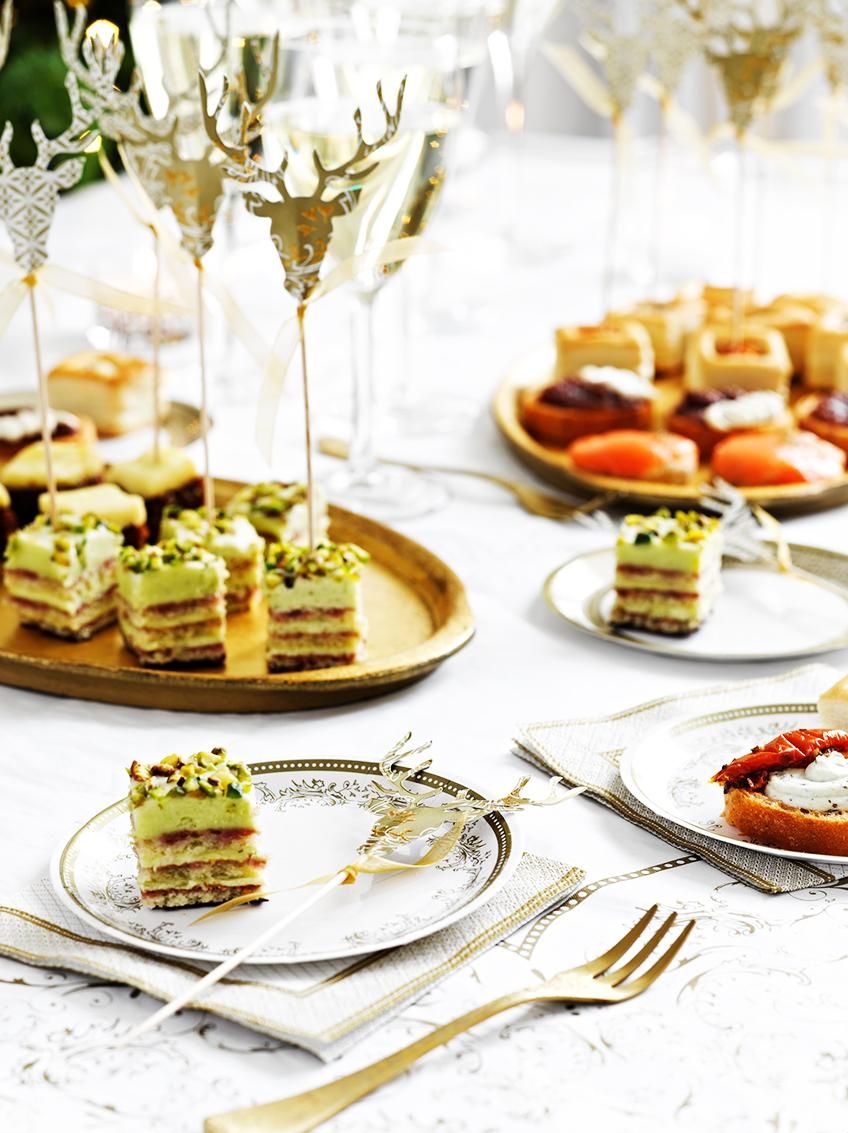 Festlicher Brunch oder Abendessen - die Canape-Picks fallen immer auf.