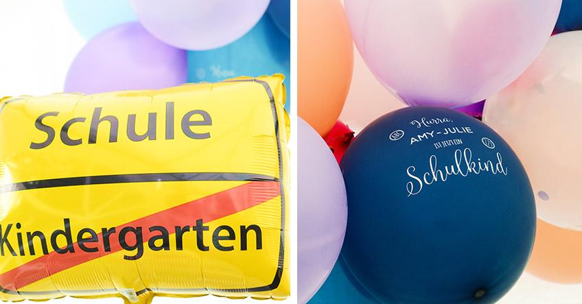 Setze zum Schulanfang Highlights mit Luftballons, die extra für die Einschulung gedacht sind (c) Nadine Bartholdt