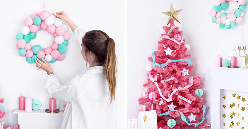Lebhafte Weihnachtsdeko für die X-Mas-Party