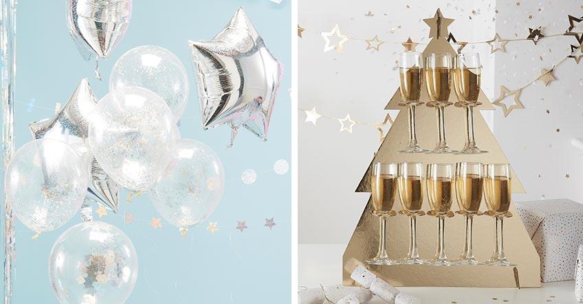 Süße Deko und weihnachtlicher Sektständer - so kommt X-mas-Stimmung auf