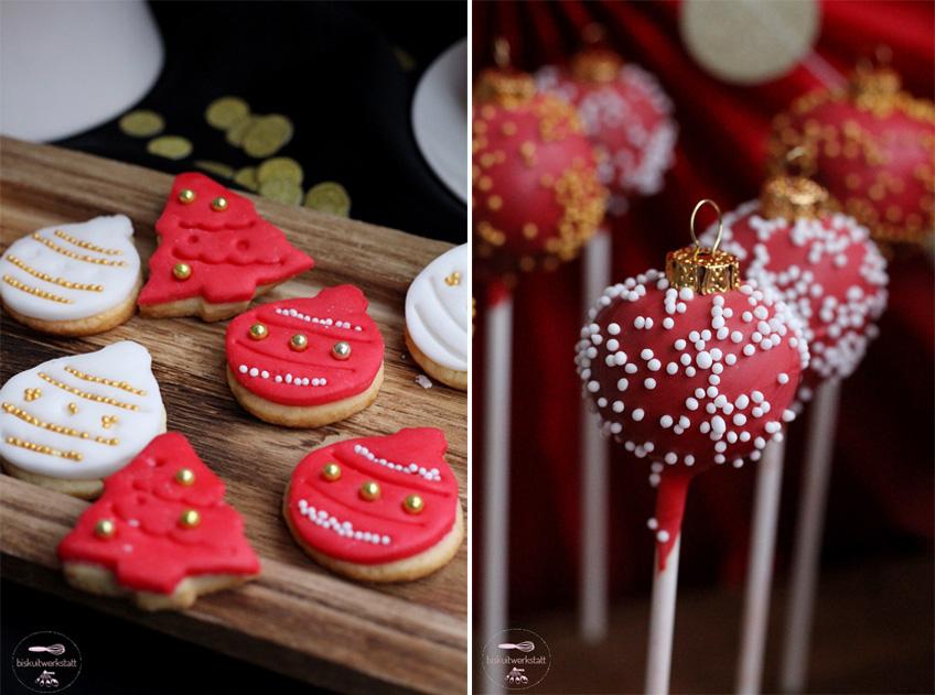 Süße Highlights in Form von Nikolaus-Keksen und Weihnachtskugel-Cake-Pops
