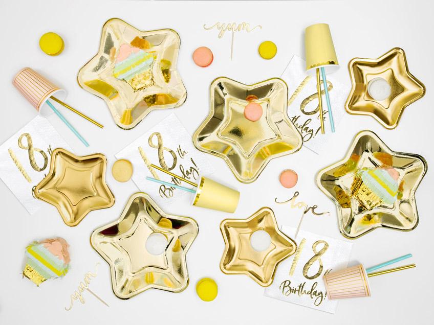Elegant in Gold und dennoch verspielt - Meilensteindeko zum 18. Geburtstag