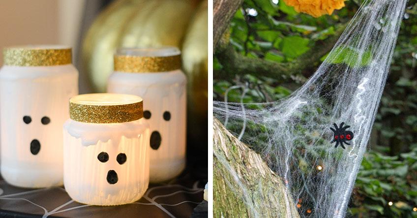 Mach deine Veranda halloween-fertig mit selbstgemachten Geisterlichtern und Spinnweben, rechts (c) bunt.lecker.kreativ