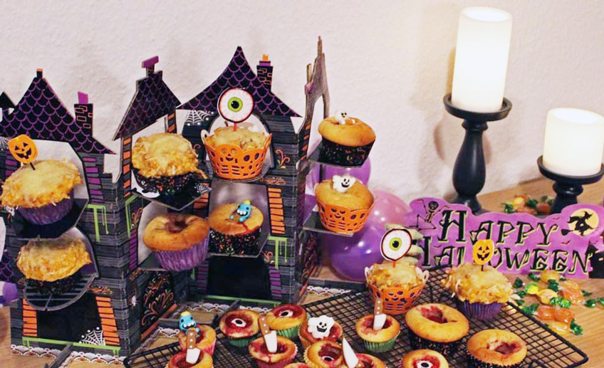 Perfekt Fur Euren Halloween Sweet Table Kurbis Muffins Pink Dots Partystore Deko Blog