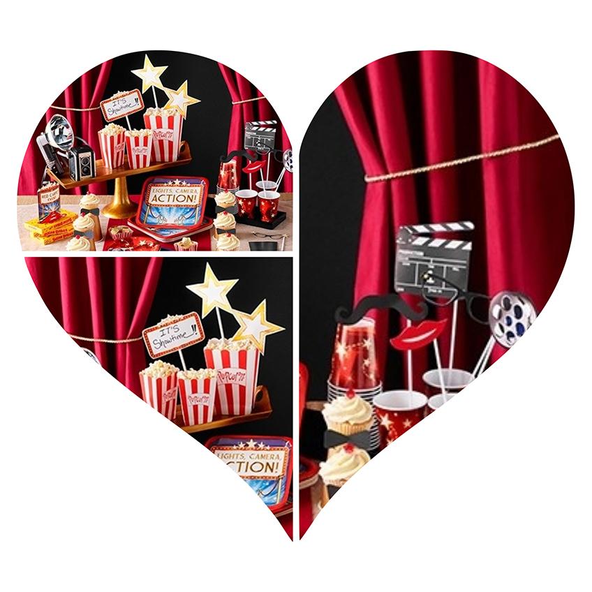 deko serie f r eure hollywood party pink dots partystore deko blog. Black Bedroom Furniture Sets. Home Design Ideas