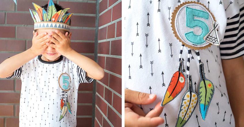 Werde für die Indianerparty kreativ und bastle deinen eigenen Federschmuck! (c) juliaweisshome