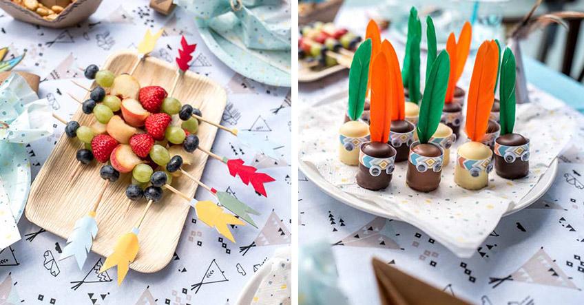 Sorg auch auf dem Geburtstags-Sweet-Table für bunte Indianerdeko (c) juliaweisshome