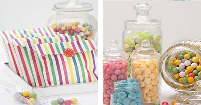 Toll auf dem Kinderfasching - eine bunte Candy Bar