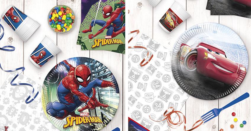 Spiderman oder Cars - zwei coole Ideen für die Kinderparty
