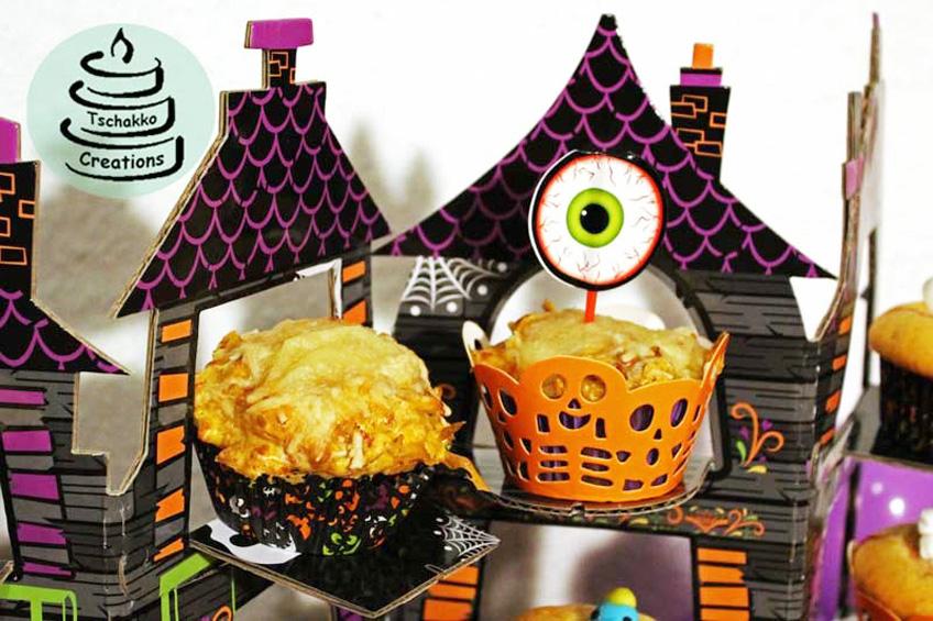 Gastrezept Schaurige Kurbis Muffins Pink Dots Partystore Deko Blog