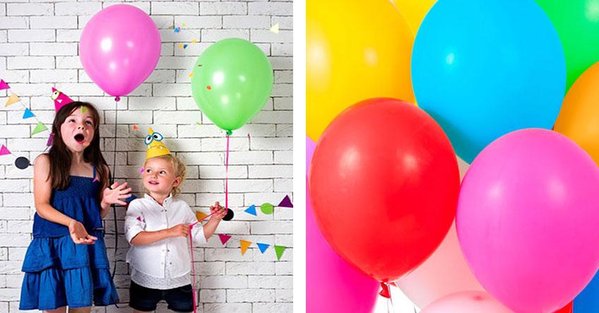 Luftballons sind eine tolle Deko für jede Party mit Kids