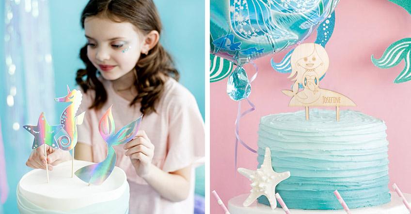 Hol dir unsere kreativen Cake Topper für den Meerjungfrauen-Geburtstag
