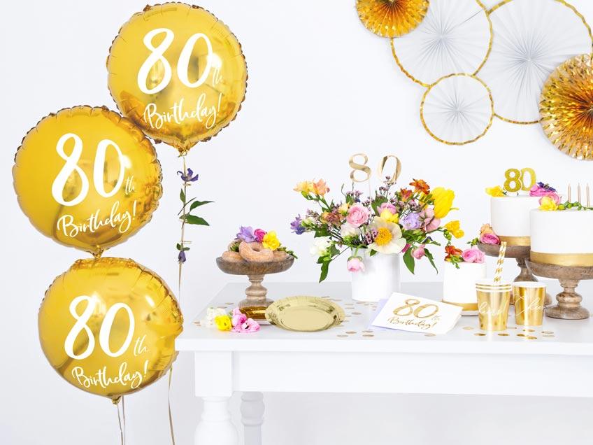 Gib zum 80. Geburtstag einen Brunch - Setze Höhepunkte mit Meilenstein-Deko