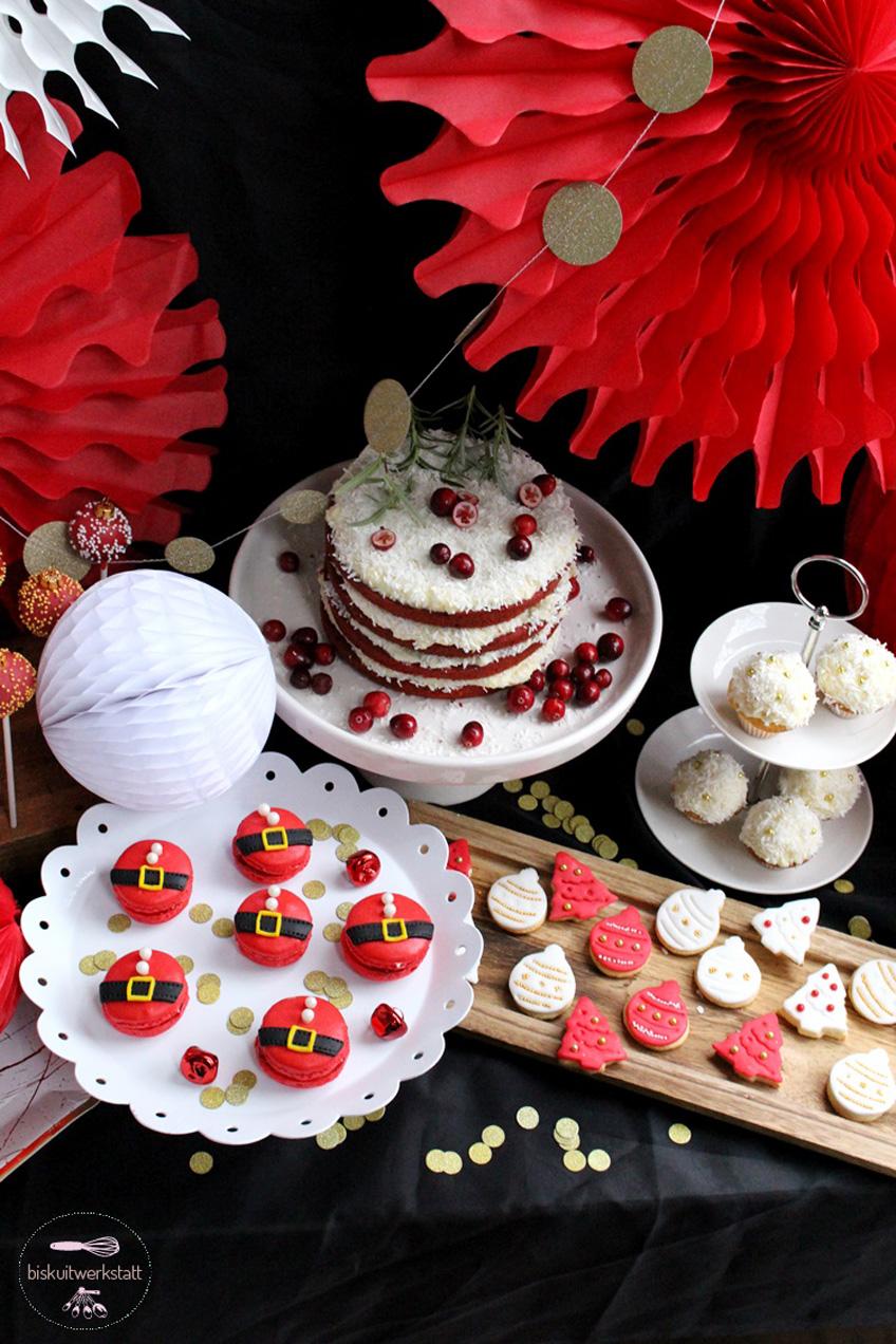 Viele süße Details finden sich auf dem hübschen Nikolaus Sweet Table