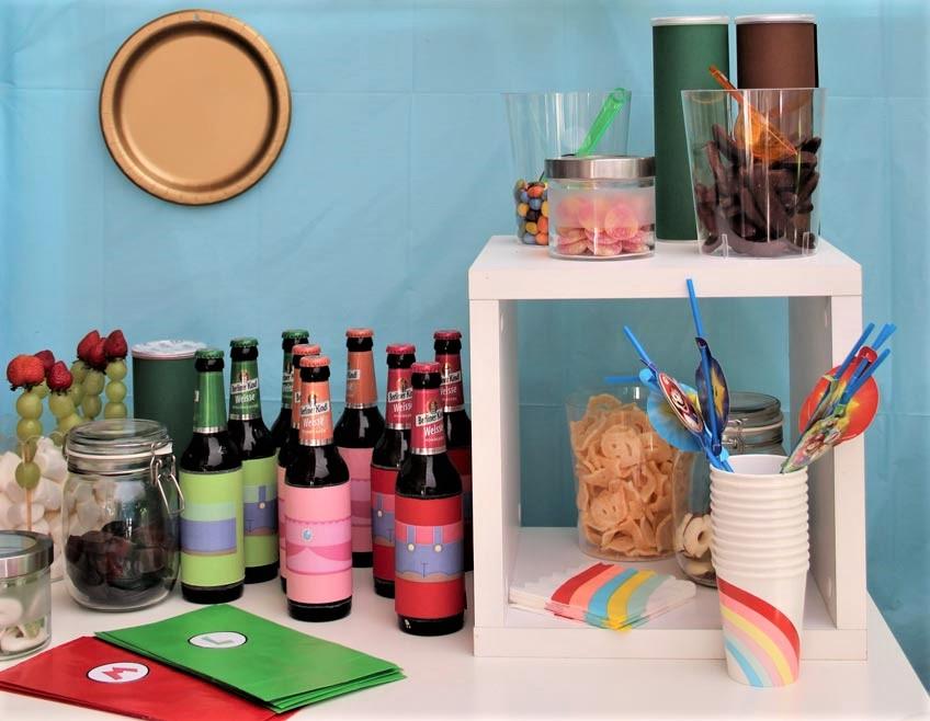 Sweet Table Im Super Mario Motto Pink Dots Partystore Deko Blog