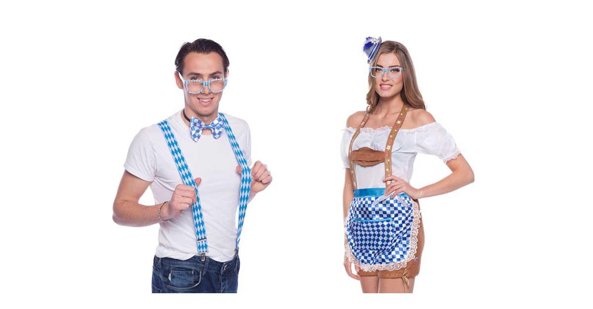 Kostümzubehör für die Party mit Oktoberfest-Motto findet ihr bei uns im Shop