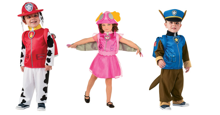 Mit tollen Kostümen verwandeln sich die Kids selbst in die Paw Patrol