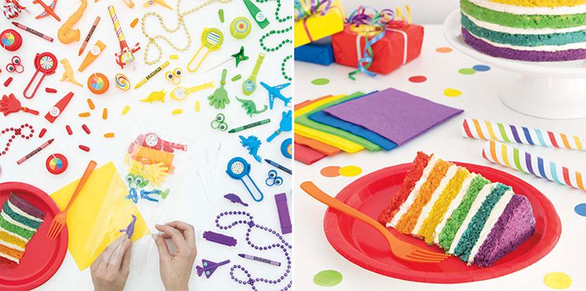 Bunte Mitgebsel für die Regenbogen-Party