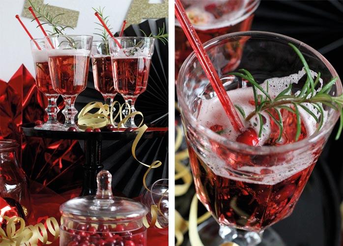 Biete eine Silvesterbowle zum Neujahrs-Maskenball an (c) Mareike Winter - Biskuitwerkstatt