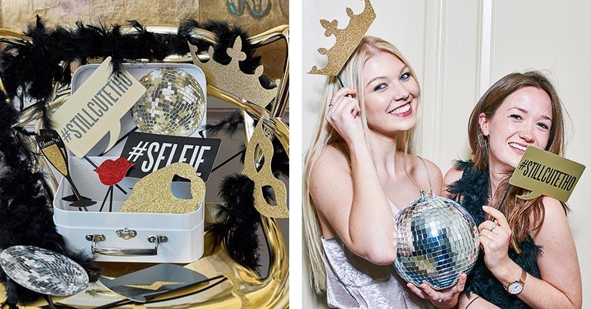 Photobooth-Zubehör für Silvester - damit deine Partyfotos zum Jahresabschluss noch mal richtig Stimmung zeigen!