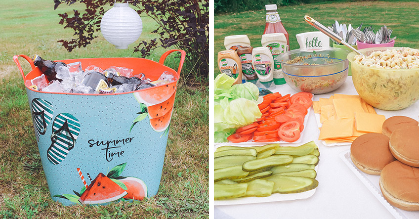 Bei Poolparty im Sommer braucht es Getränkekühler und leckeres Essen (c) ich_bins_isi
