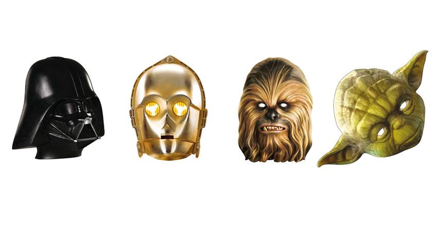 In unserem Shop findest du lustige Masken zu den verschiedenen Star-Wars-Charakteren