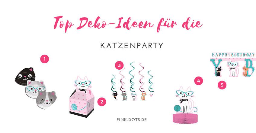 5 coole Deko-Ideen für den Kindergeburtstag mit Katzenmotto