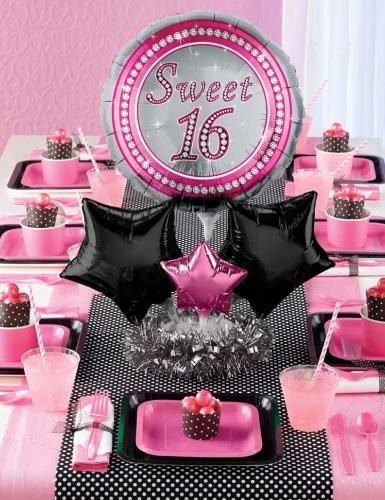 Pink und Schwarz sind beliebte Dekofarben für den Sweet 16
