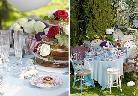 Würdet ihr nicht auch gern an dieser Alice-im-Wunderland-Teetafel sitzen und (Nicht-)geburtstag feiern?