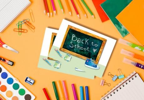 Hol dir unsere Back-to-School-Postkarte als Freebie zum Gratisausdruck