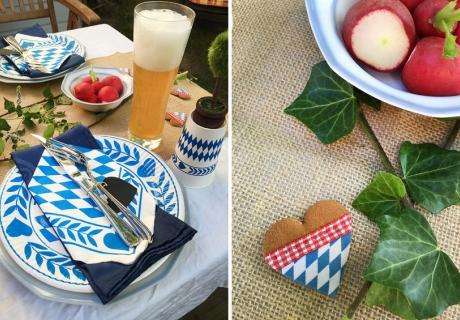 Mit typisch bayrischer Tischdeko holst du dir das Oktoberfest nach Hause
