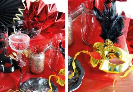 Lecker Sweet Table - Masken und edles Pappgeschirr gibt es bei uns im Shop =)