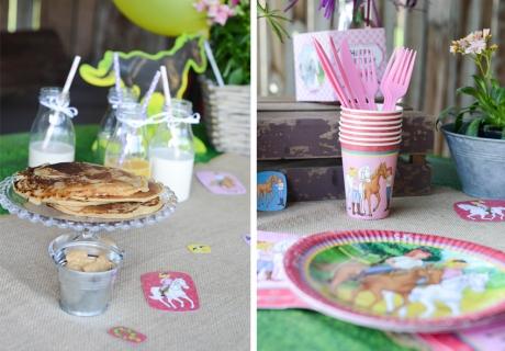 Mit unserer Bibi und Tina Geburtstagsdeko schmecken die Pfannkuchen doppelt so gut