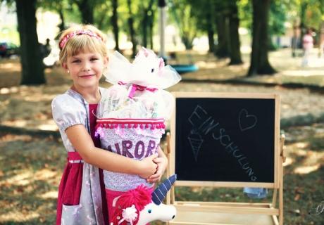 Kreidetafel und Schultüte - tolle Motive auch in der Einschulungsdeko